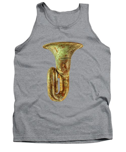 Green Horn Up On Black Tank Top