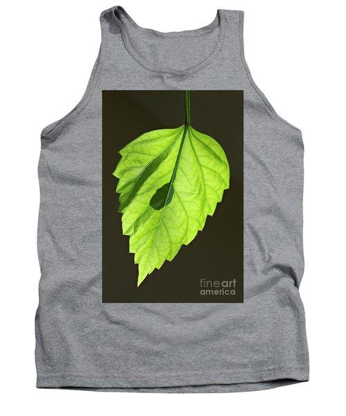 Green Hibiscus Leaf Tank Top