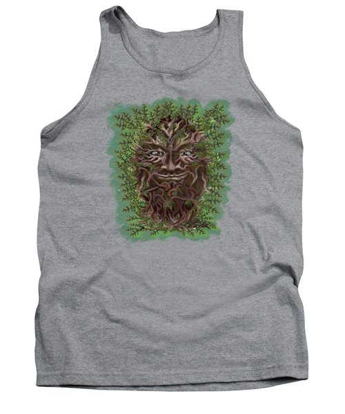 Green Man Of The Forest Tank Top