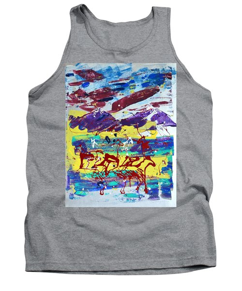 Green Pastures And Purple Mountains Tank Top by J R Seymour