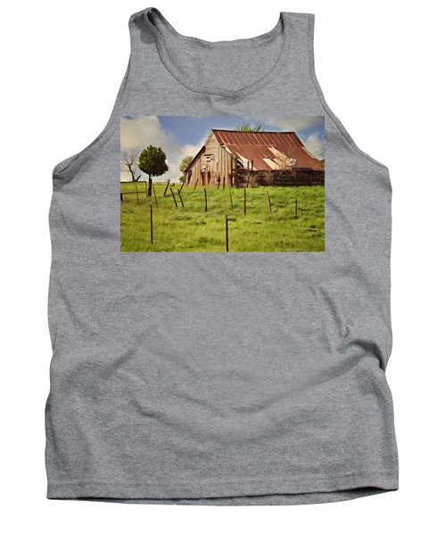 Tank Top featuring the photograph Green Pastures by Lana Trussell