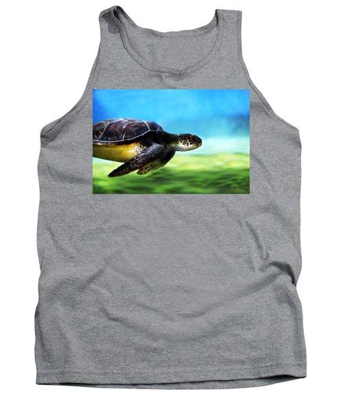 Green Sea Turtle 2 Tank Top