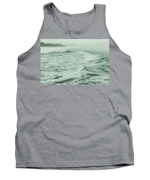 Green Waves Tank Top by Iris Greenwell