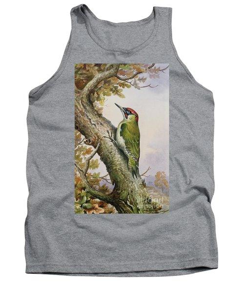 Green Woodpecker Tank Top by Carl Donner