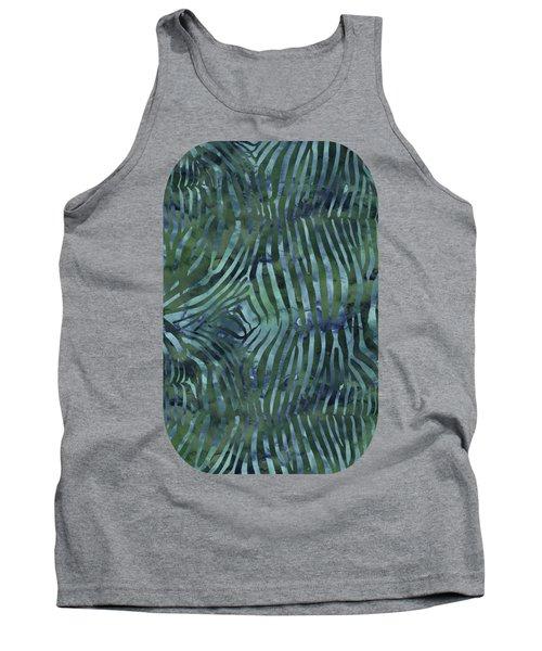Green Zebra Print Tank Top