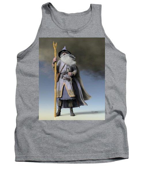 Grey Wizard Tank Top