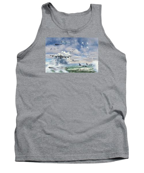 Tank Top featuring the painting Griffiss Air Force Base by Dave Luebbert