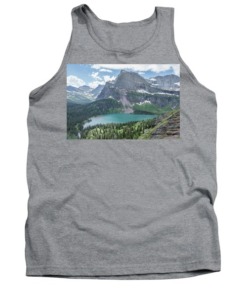 Grinnell Lake From Afar Tank Top
