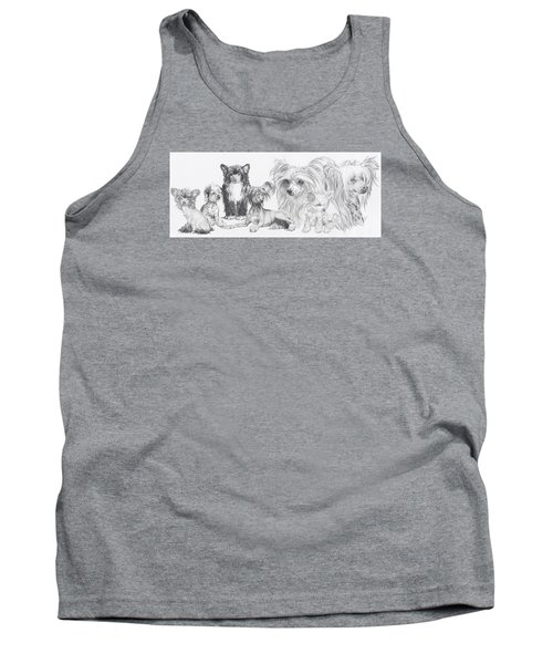 Growing Up Chinese Crested And Powderpuff Tank Top by Barbara Keith
