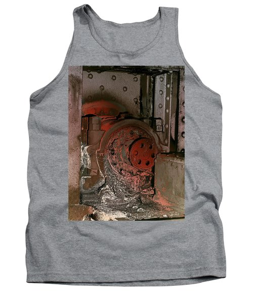 Tank Top featuring the photograph Grunge Gear Motor by Robert G Kernodle