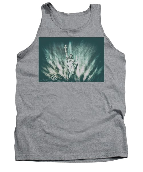 Grungey Liberty Tank Top