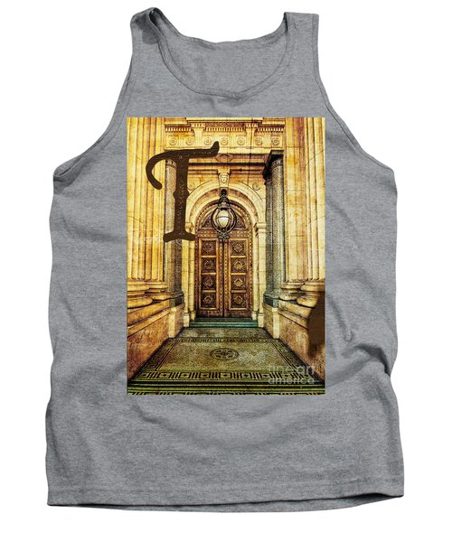 Grungy Melbourne Australia Alphabet Series Letter T Old Treasury Tank Top