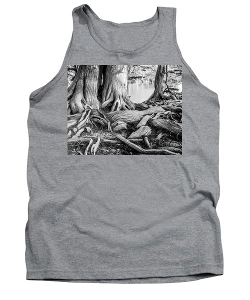 Guadalupe Bald Cypress In Black And White Tank Top