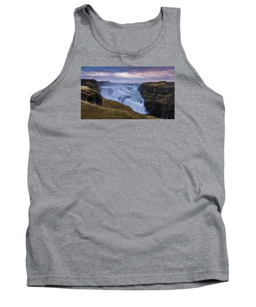 Tank Top featuring the photograph Gullfoss, Sunrise by James Billings