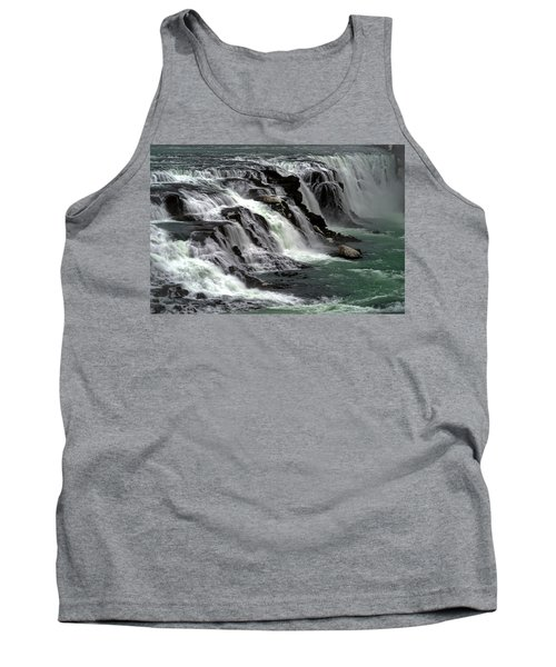 Gullfoss Waterfalls, Iceland Tank Top by Dubi Roman
