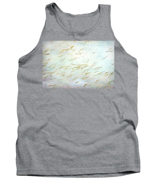 Tank Top featuring the painting Gulls At The Beach by Peggy Collins