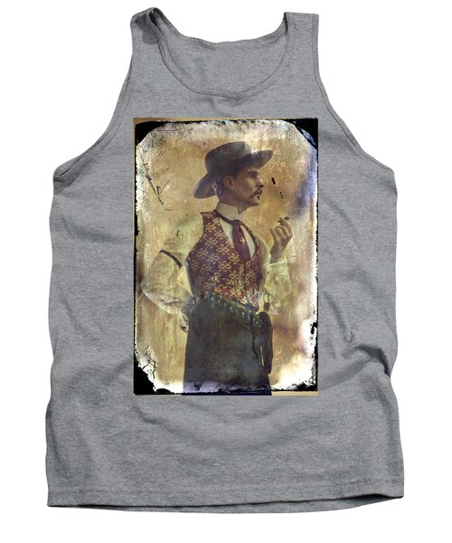 Tank Top featuring the photograph Gunslinger IIi Doc Holliday In Fine Attire by Toni Hopper