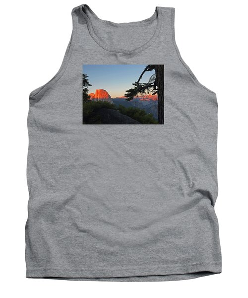 Tank Top featuring the photograph Half Dome - Sunset On A Bright Day by Walter Fahmy