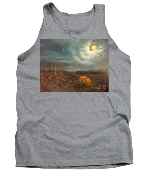 Halloween Mystery Under A Star And The Moon Tank Top by Randy Burns