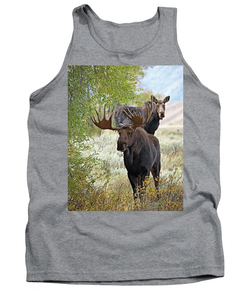 Handsome Bull With Cow Tank Top