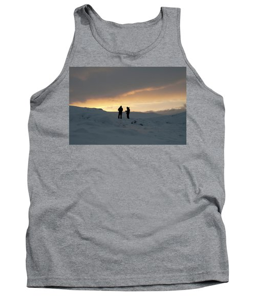 Tank Top featuring the photograph Hanging Around Iceland by Dubi Roman