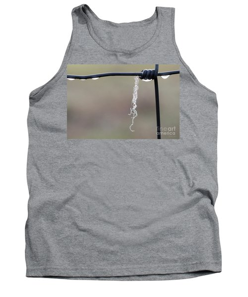 Tank Top featuring the photograph Hanging By A Thread by Linda Lees