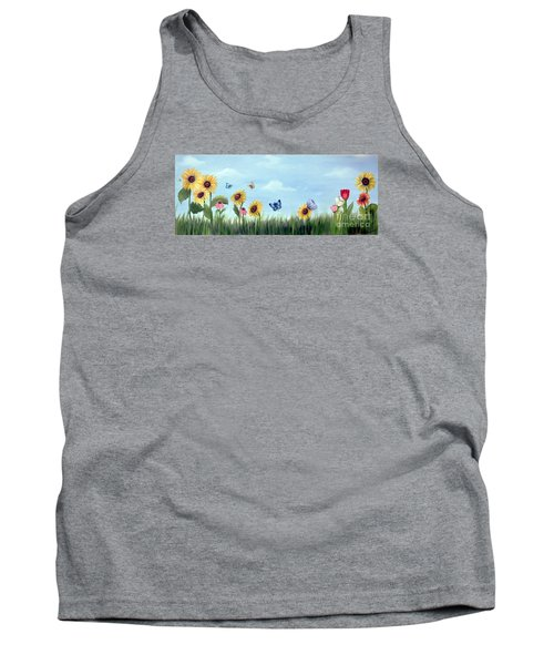 Happy Garden Tank Top by Carol Sweetwood