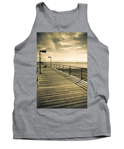 Harbor Beach Michigan Boardwalk Tank Top