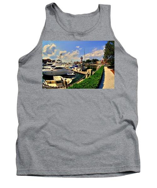 Harbour Town Marina Sea Pines Resort Hilton Head Sc Tank Top