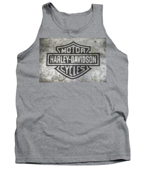 Harley Davidson Logo On Metal Tank Top