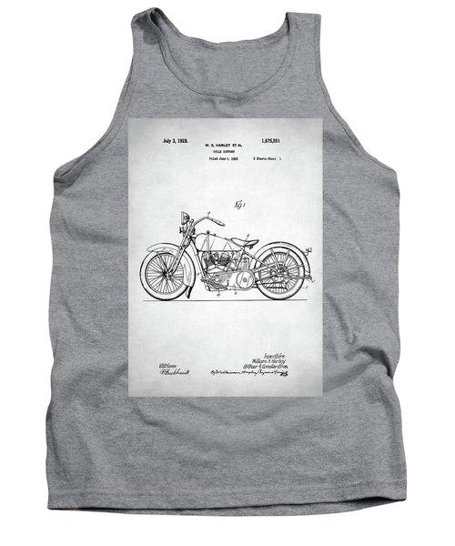 Tank Top featuring the digital art Harley Davidson Patent by Taylan Apukovska