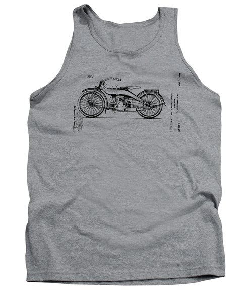 Tank Top featuring the drawing Harley Motorcycle Patent by Bill Cannon