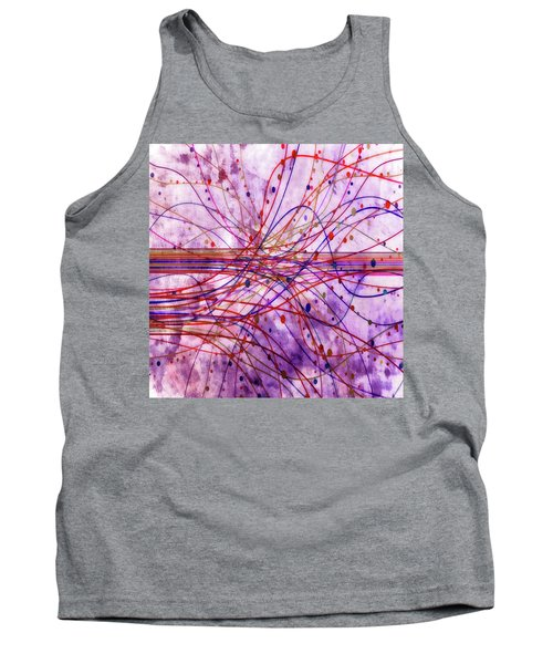 Tank Top featuring the digital art Harnessing Energy 2 by Angelina Vick