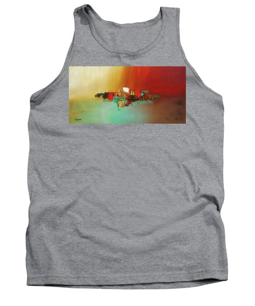 Tank Top featuring the painting Hashtag Happy - Abstract Art by Carmen Guedez