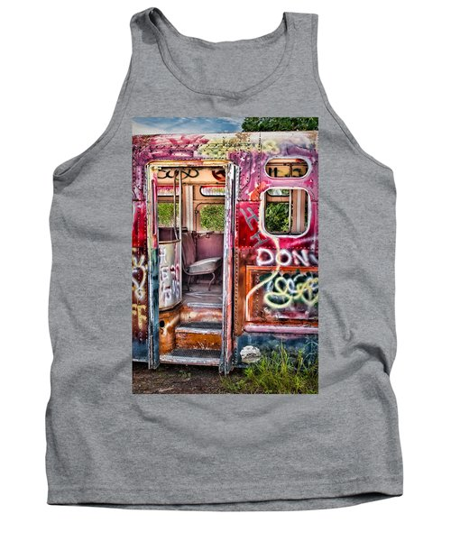 Haunted Graffiti Art Bus Tank Top
