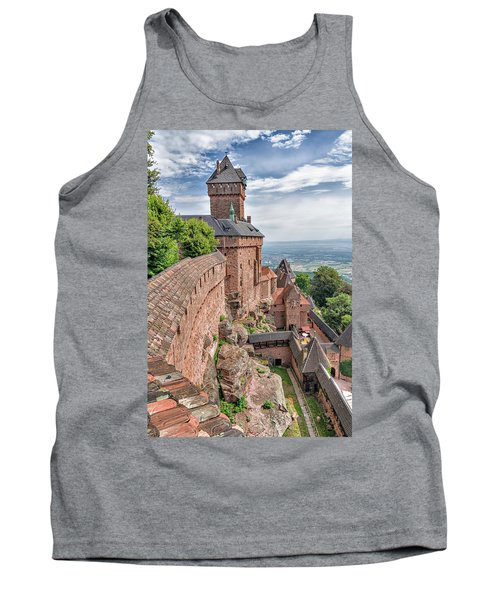 Tank Top featuring the photograph Haut-koenigsbourg by Alan Toepfer