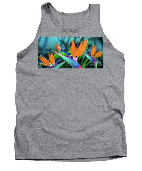 Hawaii Bird Of Paradise Flowers Tank Top