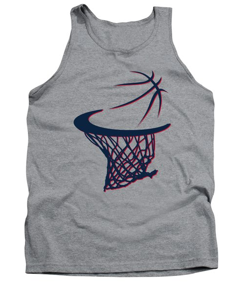 Hawks Basketball Hoop Tank Top by Joe Hamilton