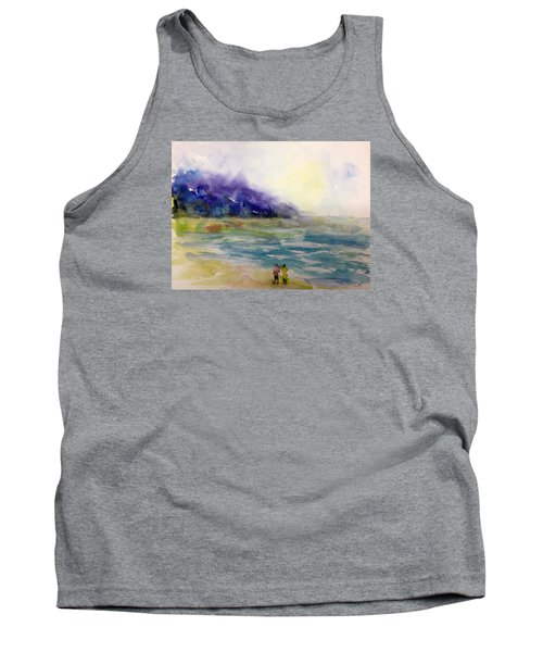 Hazy Beach Scene Tank Top