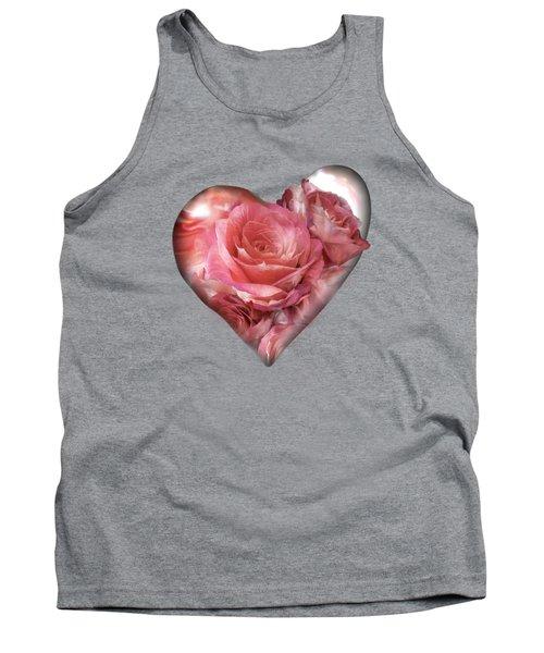 Heart Of A Rose - Melon Peach Tank Top