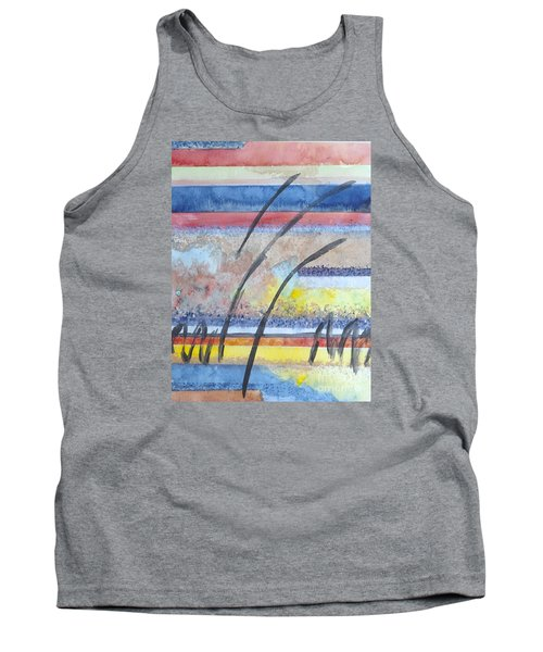 Tank Top featuring the painting Heartbeat by Jacqueline Athmann