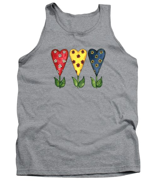 Hearts And Flowers Tank Top