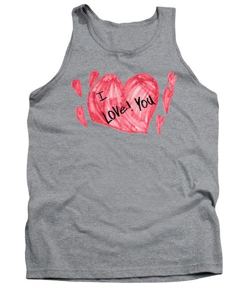 Hearts - I Love You Tank Top
