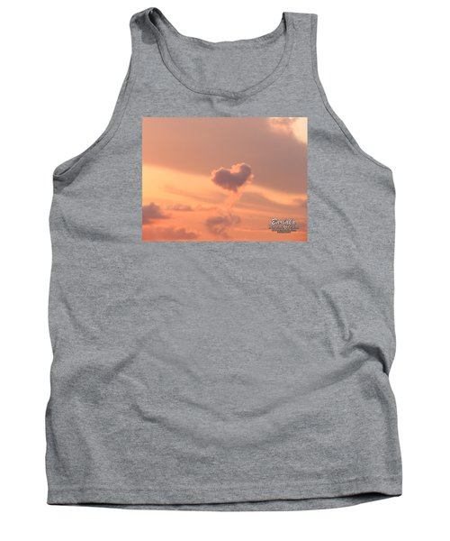 Tank Top featuring the photograph Hearts In The Clouds by Barbara Tristan