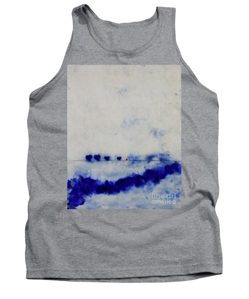 Tank Top featuring the painting Hearts On A Wire by Kim Nelson