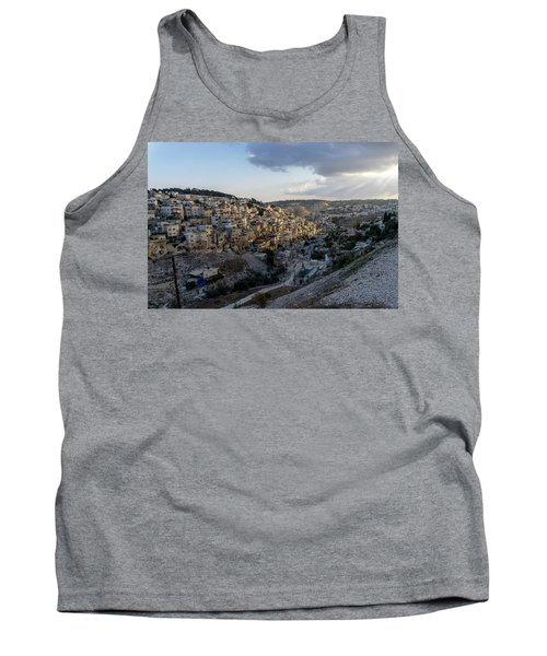 Heaven Shines On The City Of David Tank Top