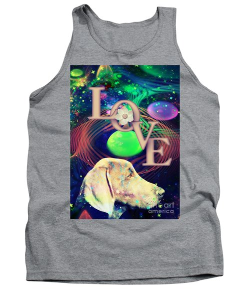 Tank Top featuring the digital art Heavenly Love by Kathy Tarochione