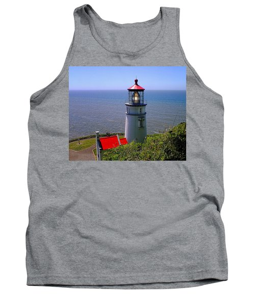 Tank Top featuring the photograph Heceta Head Lighthouse by Wendy McKennon