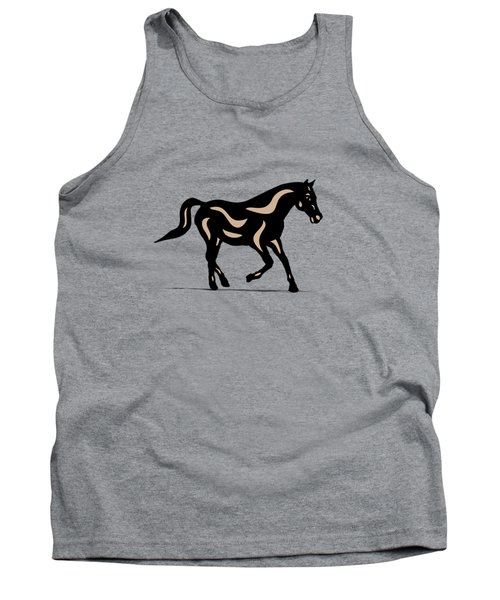 Heinrich - Pop Art Horse - Black, Hazelnut, Island Paradise Blue Tank Top