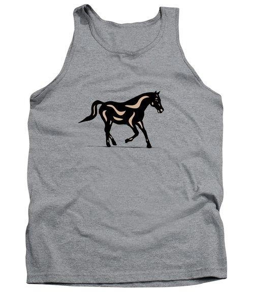 Heinrich - Pop Art Horse - Black, Hazelnut, Island Paradise Blue Tank Top